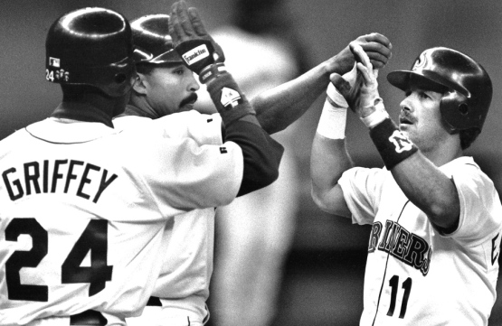 Griffey-jr.-Henry-Cotto-Edgar-Martinez-Mariners-4-11-1992